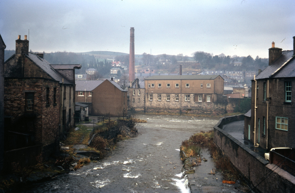 Knitting mill at Harwick - Scotland. Taken on Kodachrome on 28 Nov 1970.