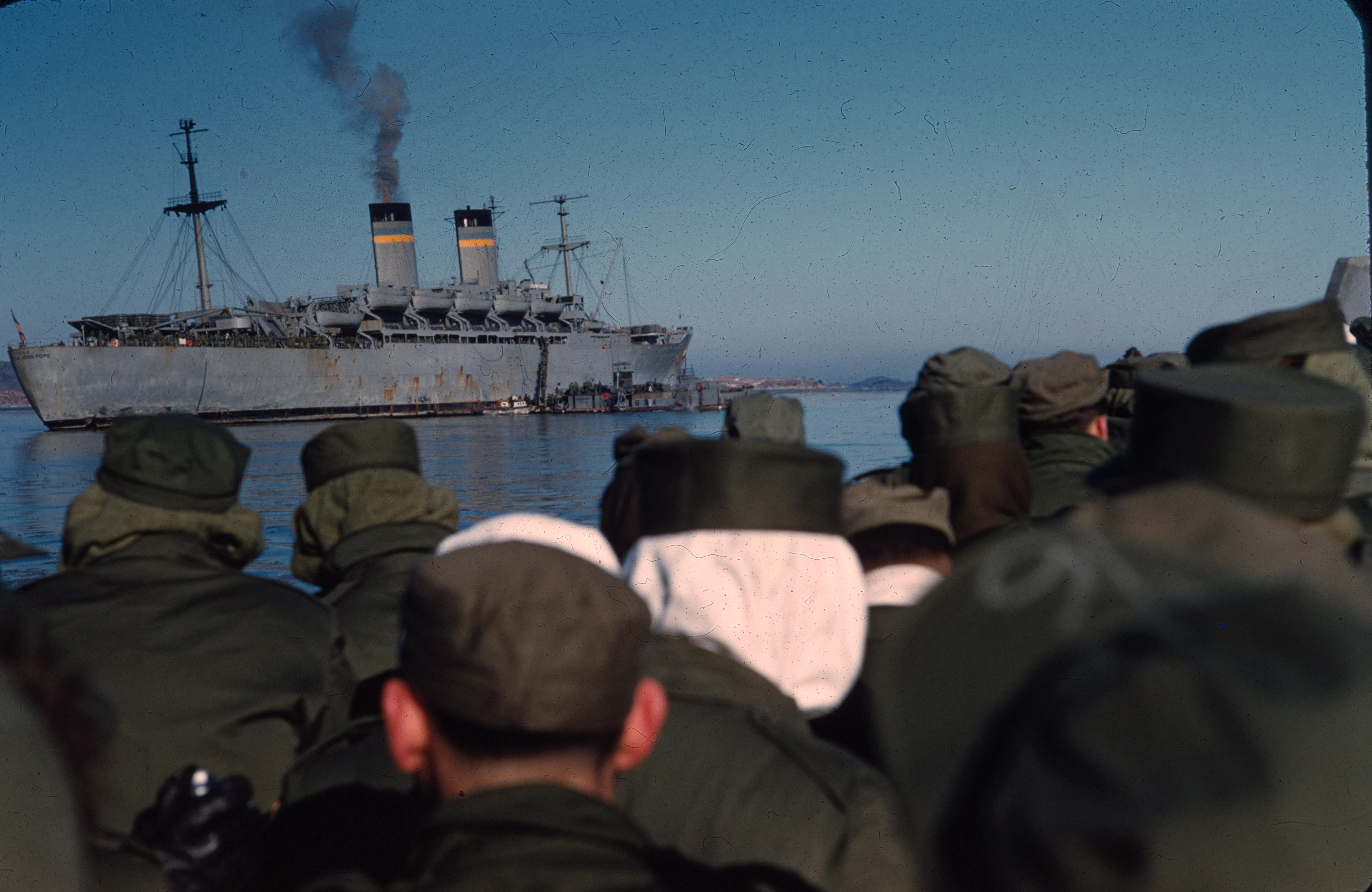 USNS General John Pope, 1954 The voyage home, 1954