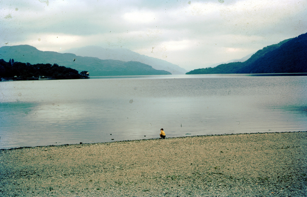 Loch Lomond, nr Balloch, Scotland near Glasgow.Taken on Kodachrome on 7 Sep 1969.