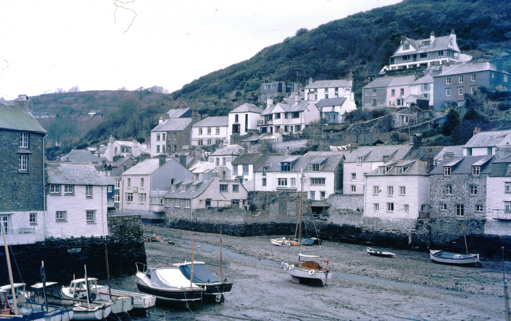 Polperro, Cornwell, England 4 April 1970 taken on Kodachrome