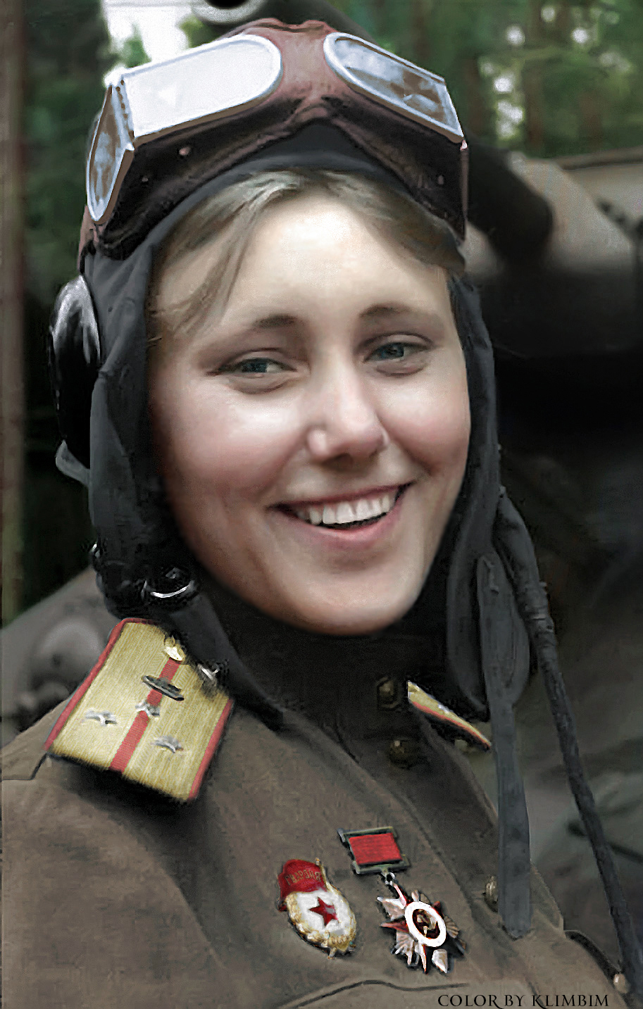 Aleksandra Samusenko russi world war 2 colour