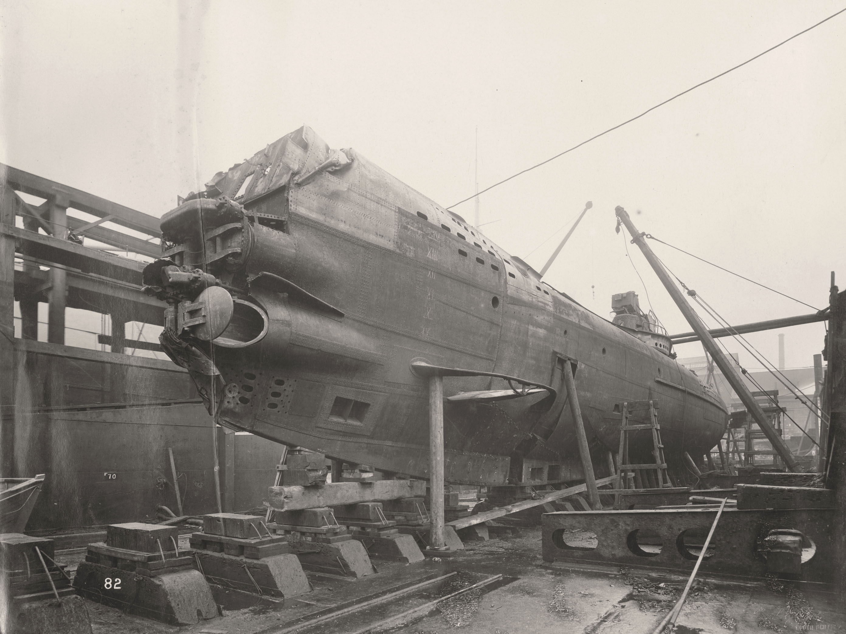 Swan Hunter 1918 German submarine Wallsend world war 1