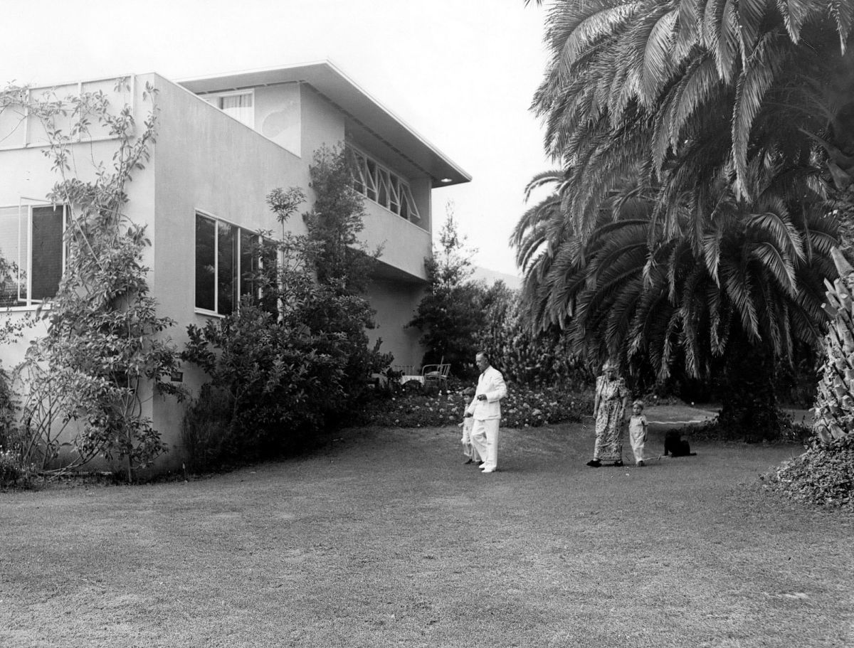 Thomas Mann at his home in Pacific Palisades. 1941. Photo: Associated Press.
