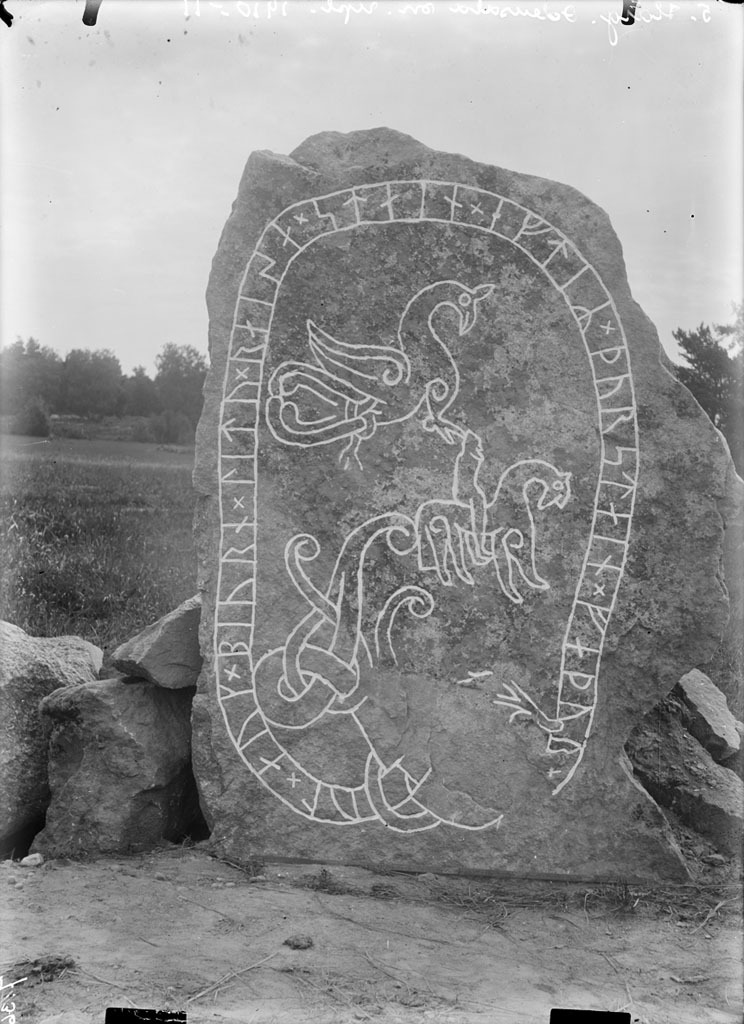 Old Photographs of Ancient Runic Inscriptions and Picture Stones Sweden