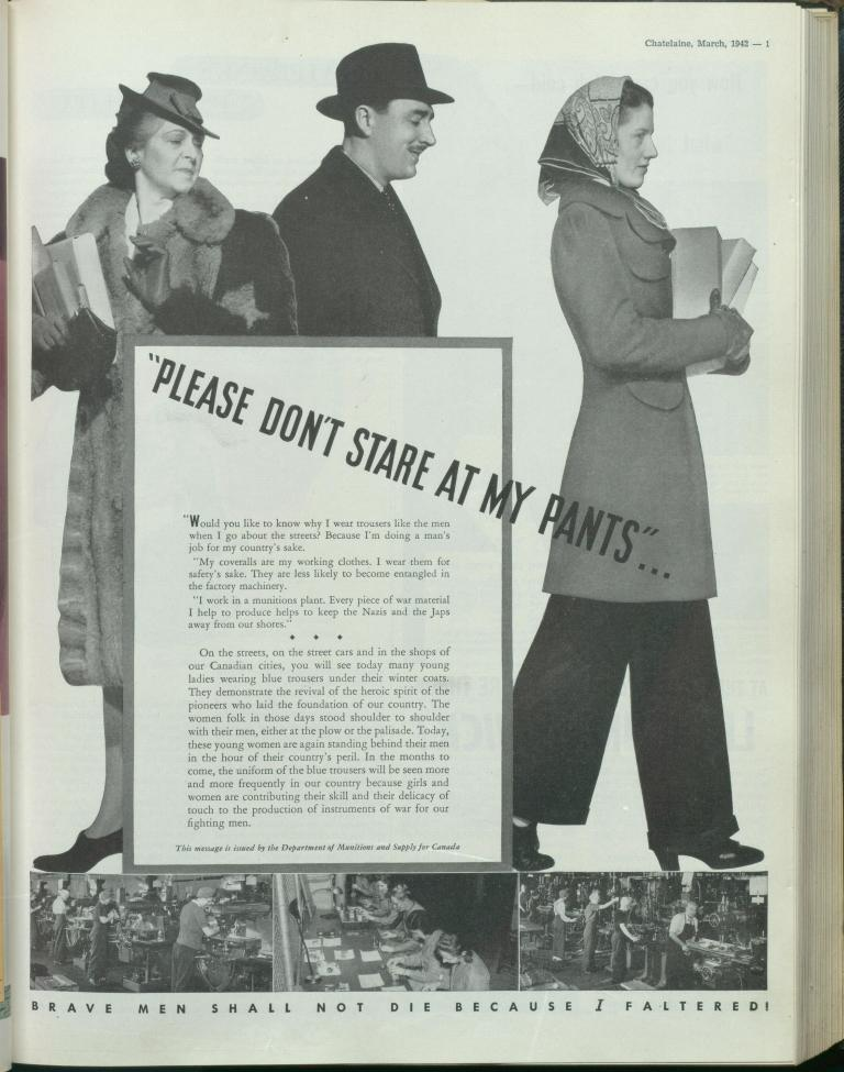 Chatelaine magazine 1942 slacks