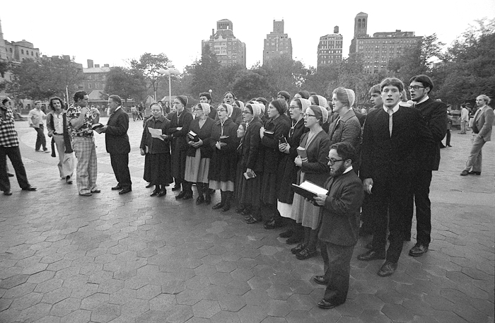 Group of Amish, 1978 Washington Square, Manhattan, NY, 1978