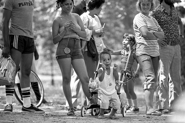 Enjoying music, 1978 Central Park, Manhattan, NY