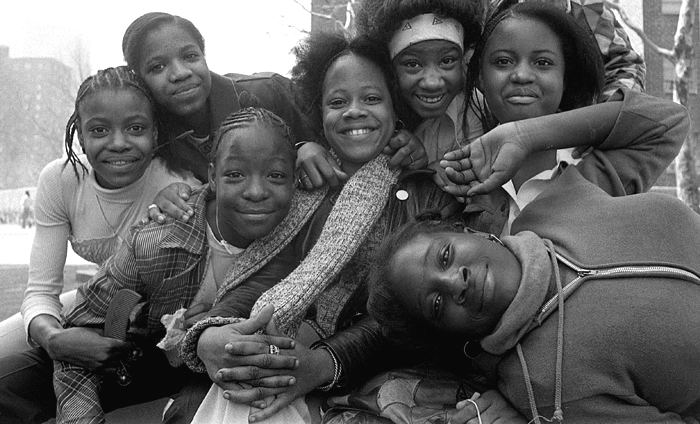 Happy girls, 1976 Lower East Side, Manhattan, NY