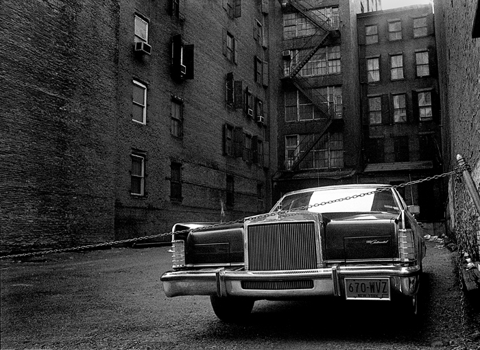 Protected Cadillac,1976 (it's not a Cadillac, it's a Lincoln Continental) Manhattan, NY