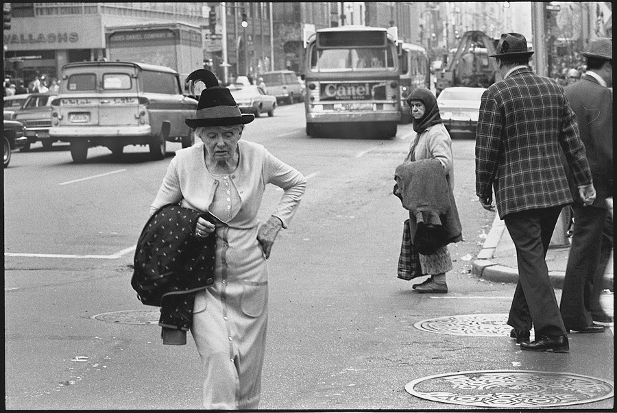Woman with hat. NYC 1977 Manhattan, NY, 1978