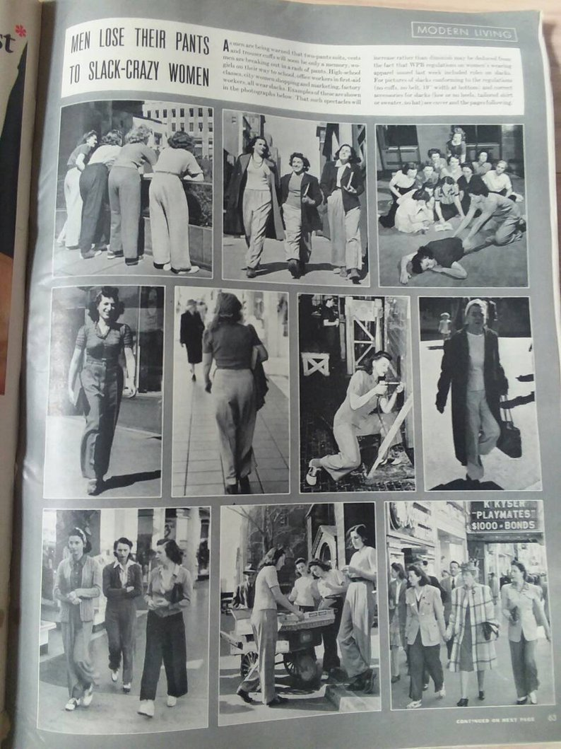 LIFE Magazine April 20 1942 SLACKS WW