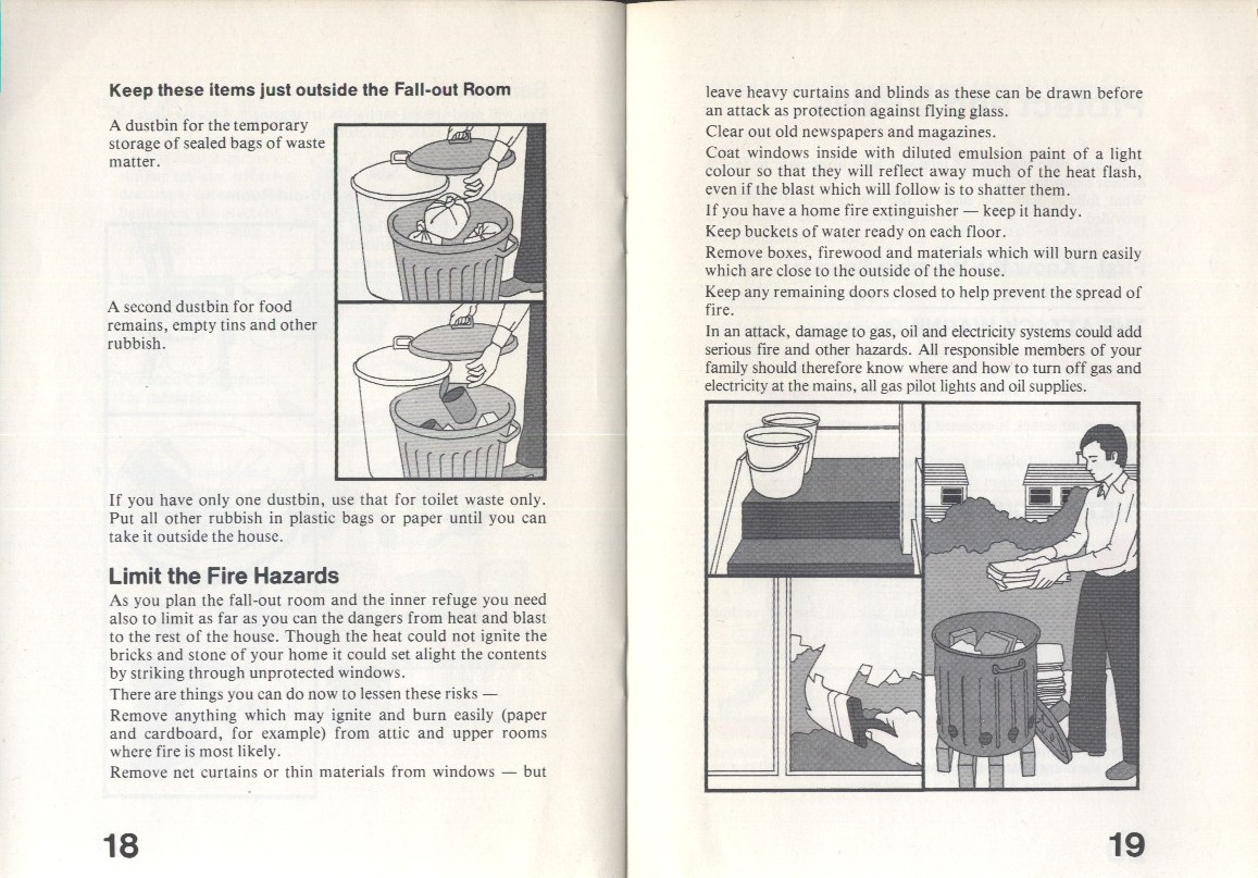 Protect and survive 1980 Nuclear war pamphlet