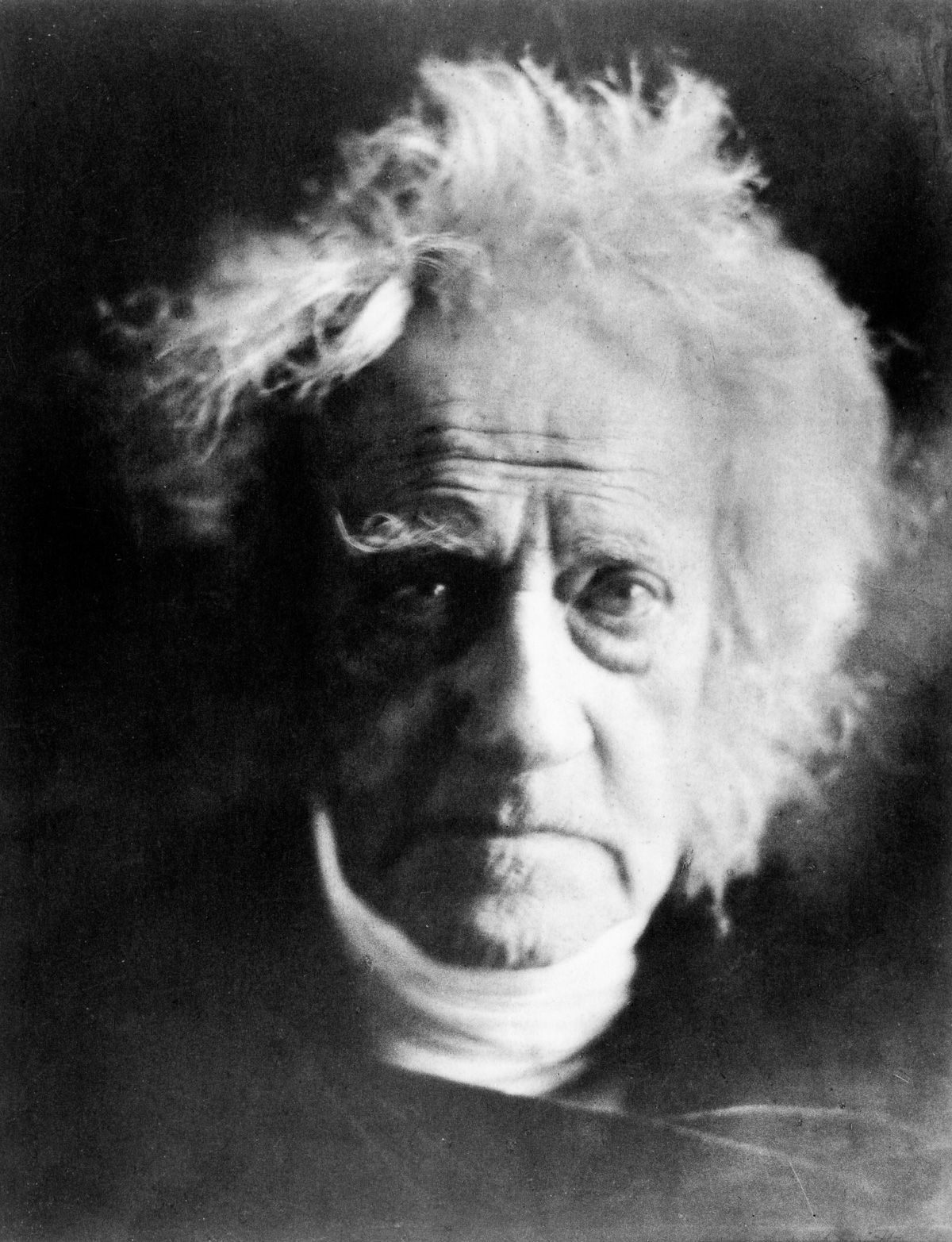 1864 Astronomer and mathematician Sir John Herschel.Julia Margaret Cameron portraits