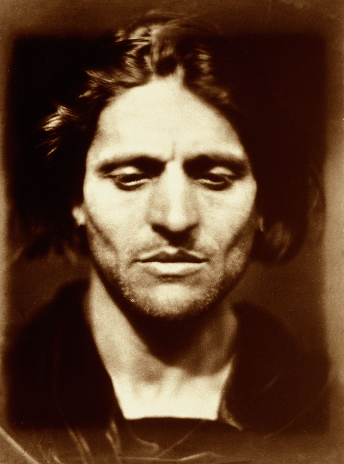 Julia Margaret Cameron portraits 1867 A portrait of an Italian man, possibly an artist's model called Alessandro Colorossi. This was Cameron's only photo of a professional model.