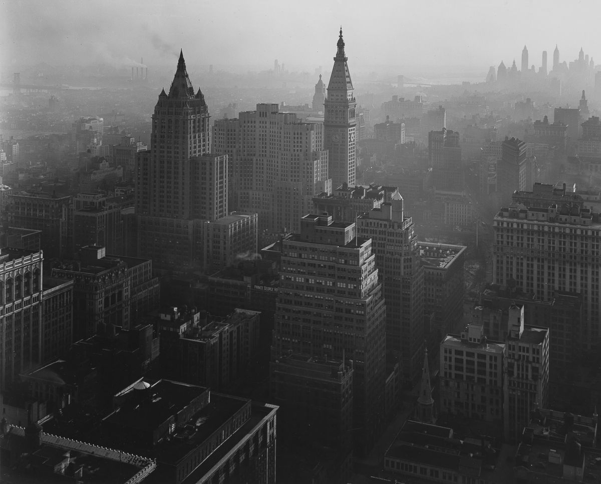 1946 From Empire State Building, looking southeast.