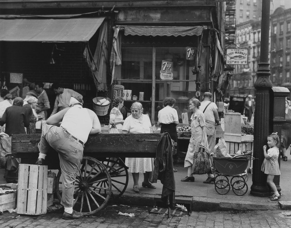 New York City 1940s 1950s 1946 Suffolk and Hester Streets