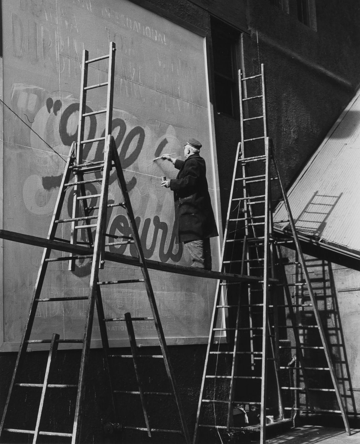 1946 Times Square sign painter.