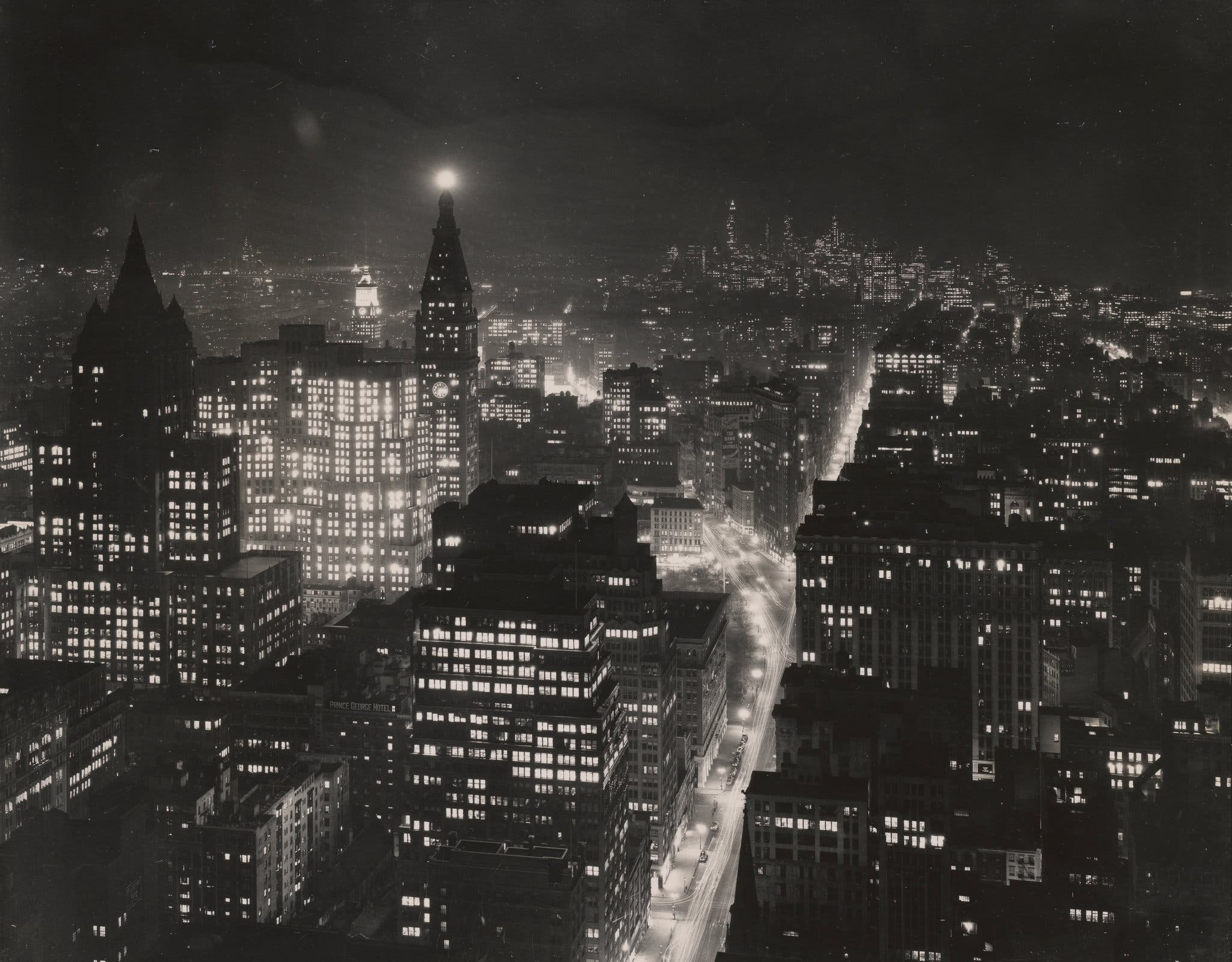 New York City 1940s 1950s Looking southeast from the Empire State Building. 1946.