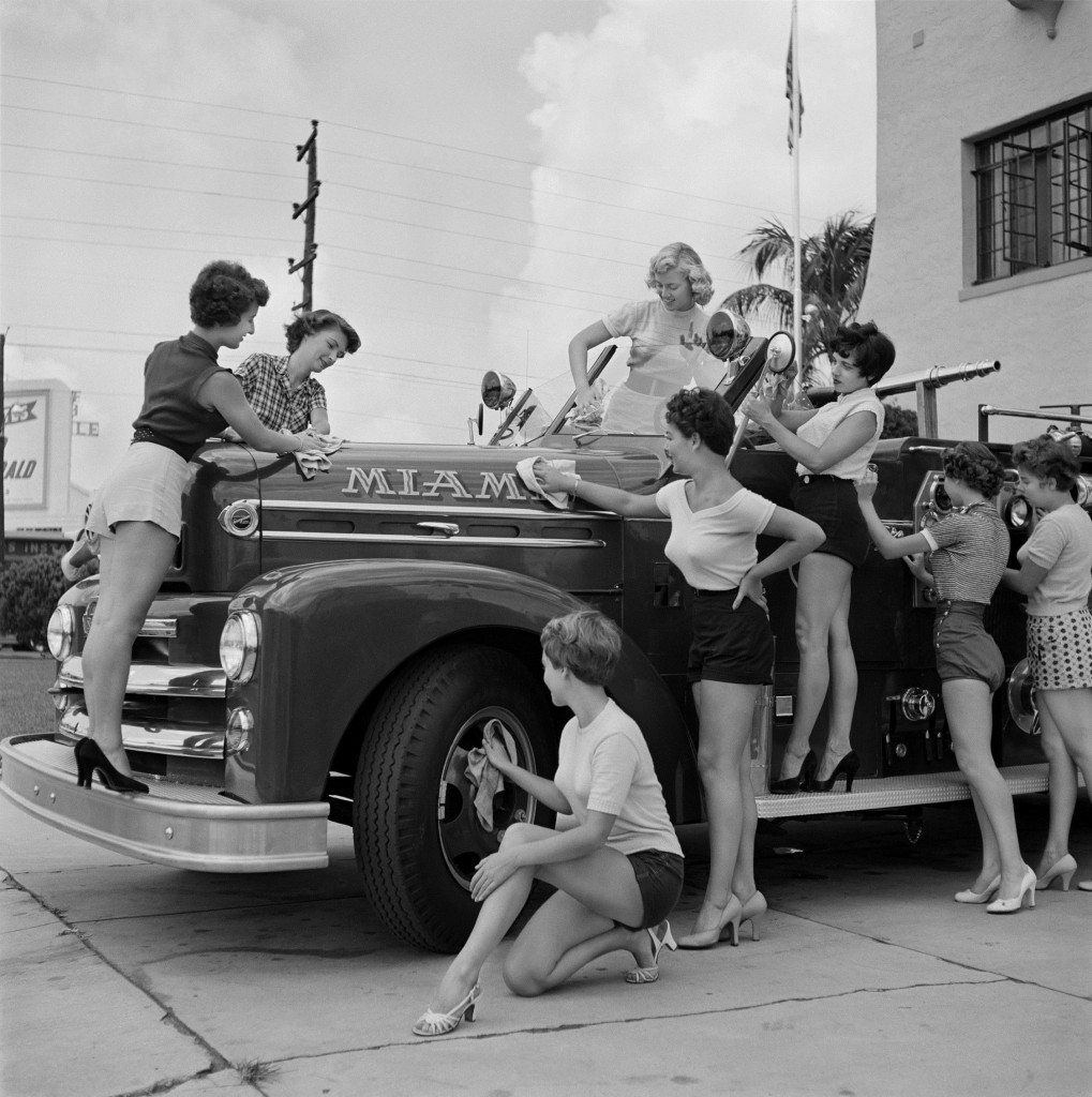 Girls at Miami Fire Department, 1955