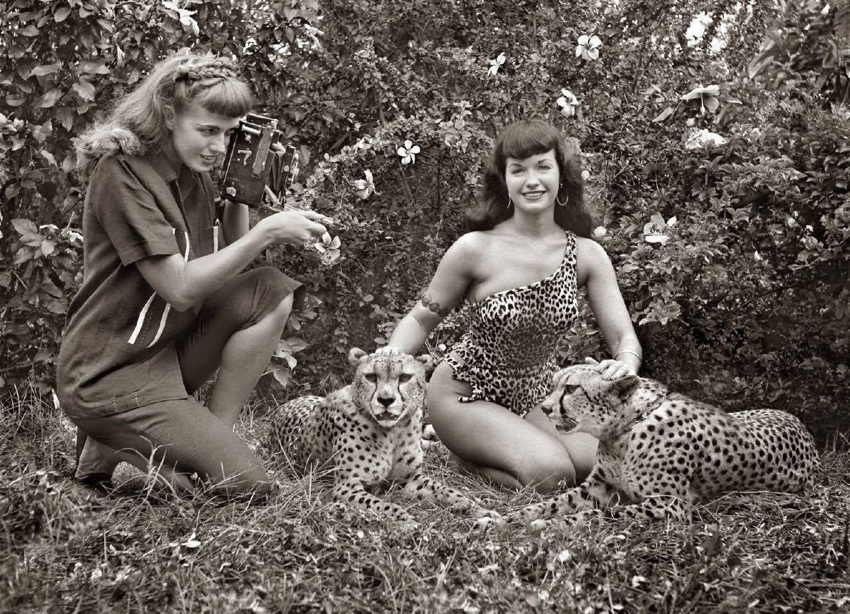 Bettie Page, Africa USA, Safari Park, Boca Raton, Florida, 1954