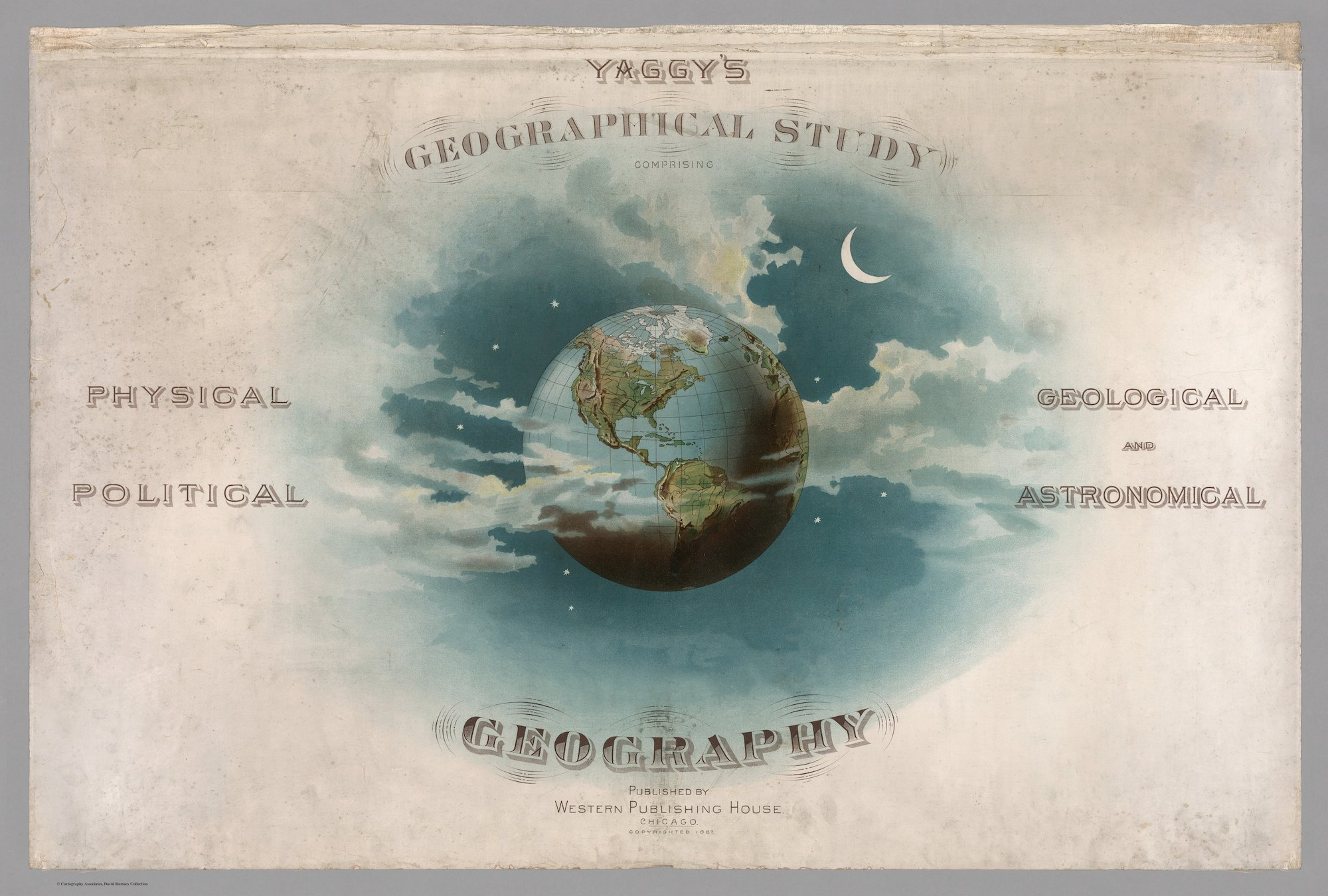 Yaggy, Levi Walter map world atlas 1800s