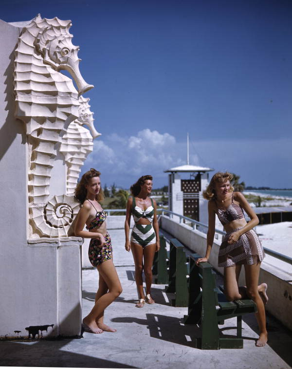 Title: Young women at the municipal casino: Lido Beach, Florida Date: ca. 1945