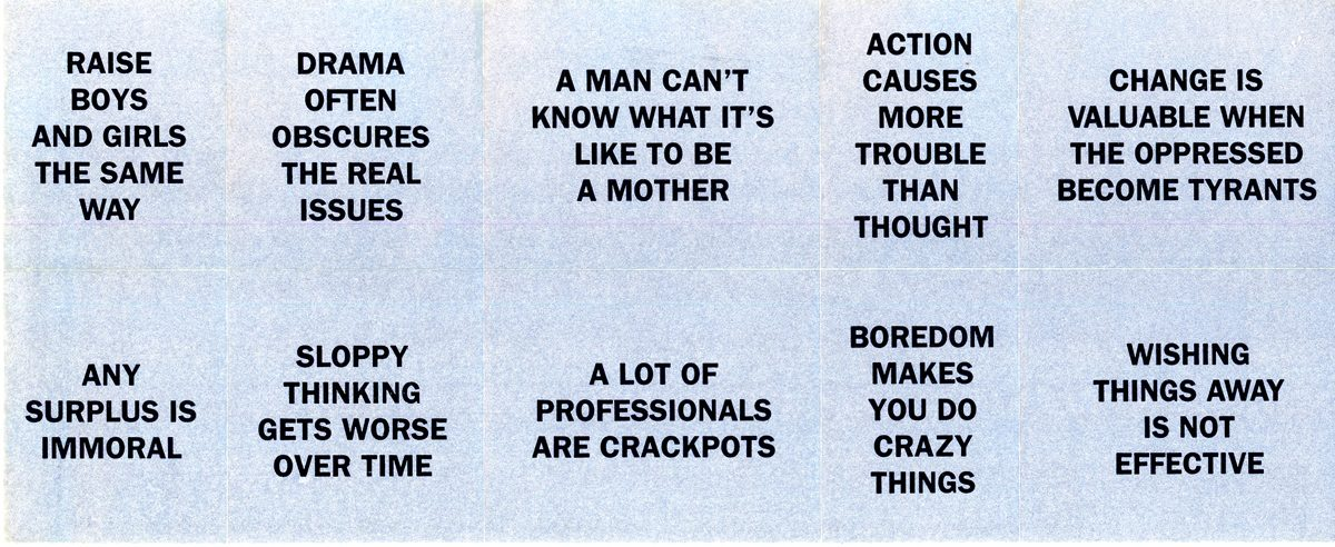 Art Matters, Jenny Holzer & Marianne Weems, Fundraising Letter & Truism Stamps, 1995 - stamps