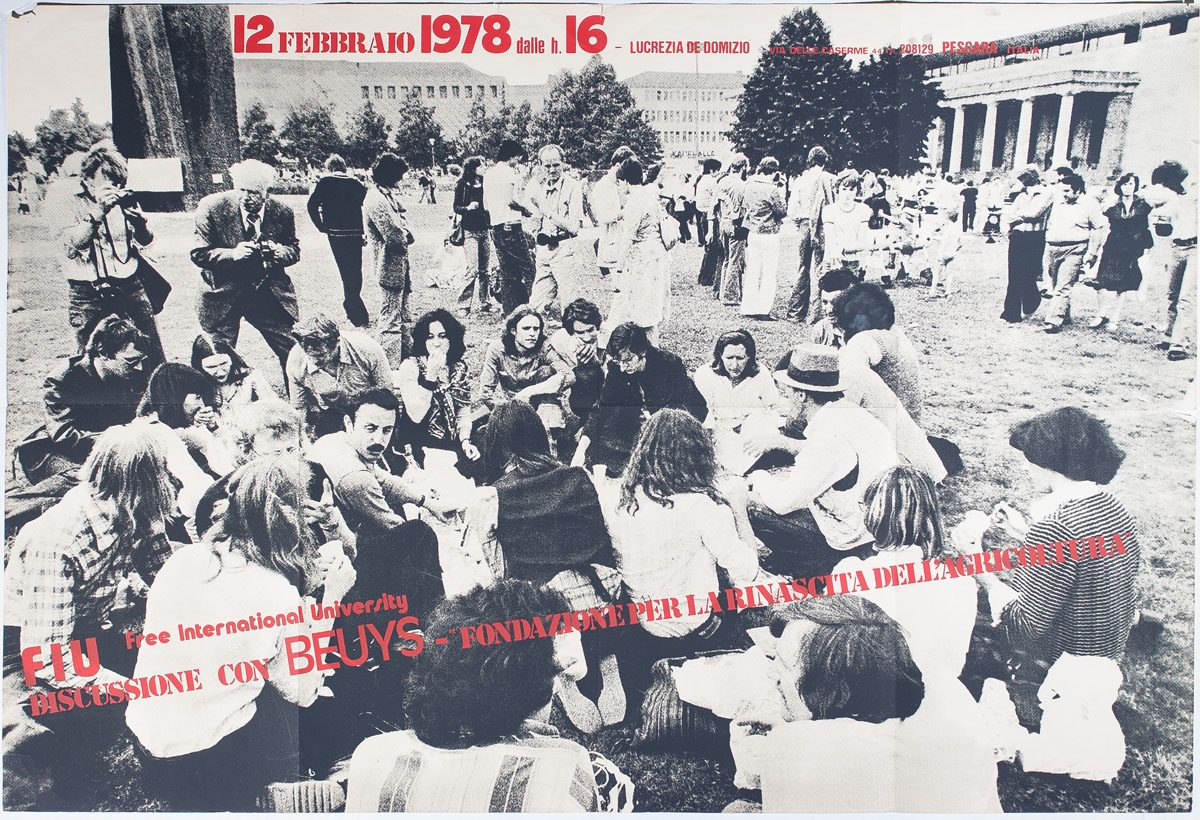 Free International University (Italy), Joseph Beuys, Poster, 1978