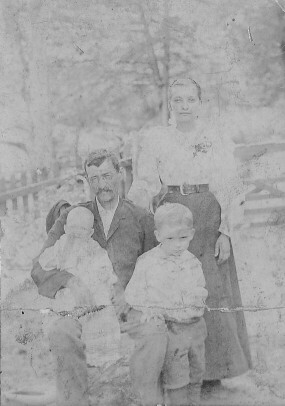 Jacob's wife Ellen Webb Vowell with her children Lillie & James Vowell and her father James R. Webb