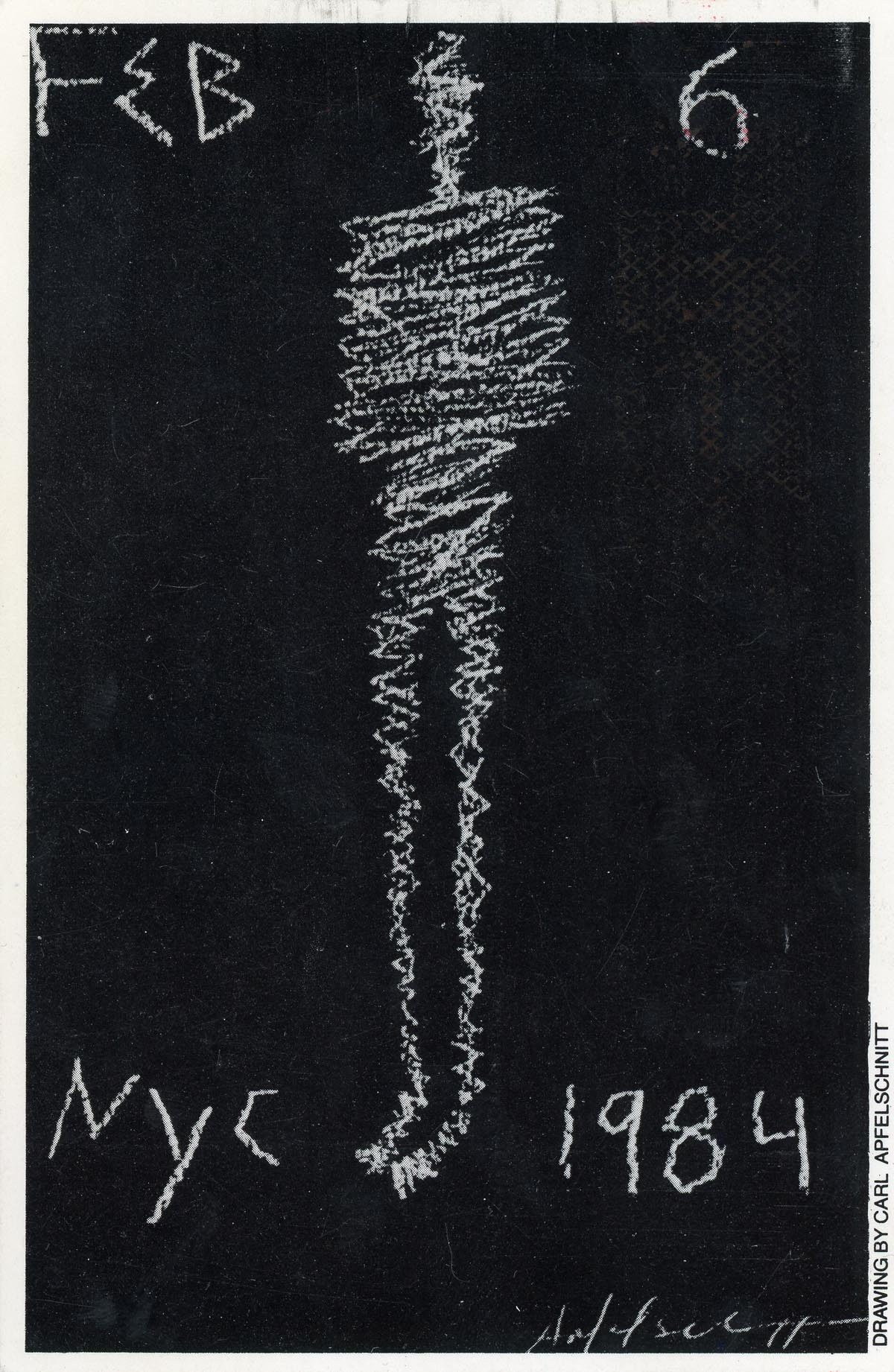Limelight, Carl Apfelschnitt, 70th Birthday of William S. Burroughs, Card, 1984