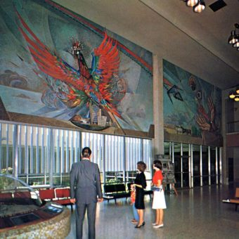 A Wonderful Collection of Mid-Century Postcards of Airports From Around the World