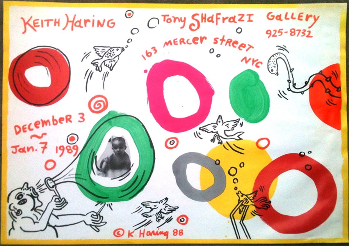 Tony Shafrazi Gallery, Keith Haring, Poster, 1988