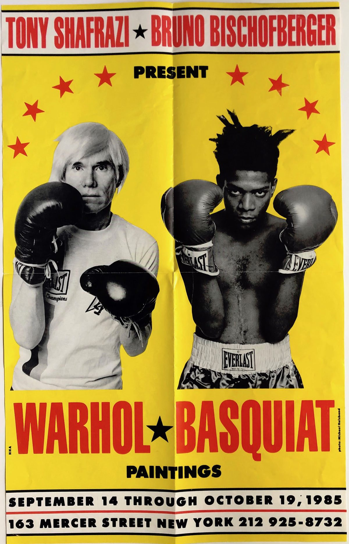 Tony Shafrazi Gallery, Warhol, Basquiat, Paintings, Poster, September – October 1985