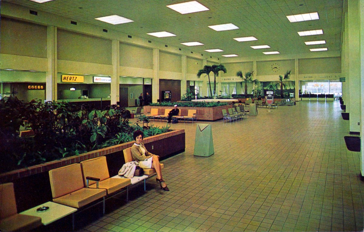 Airports Postcards Mid-Century
