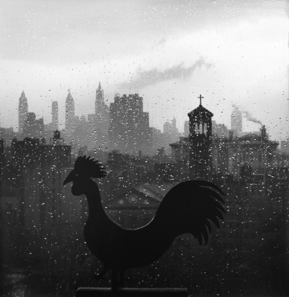 Weather Vane and New York Skyline, September 19, 1952. Photo: André Kertész