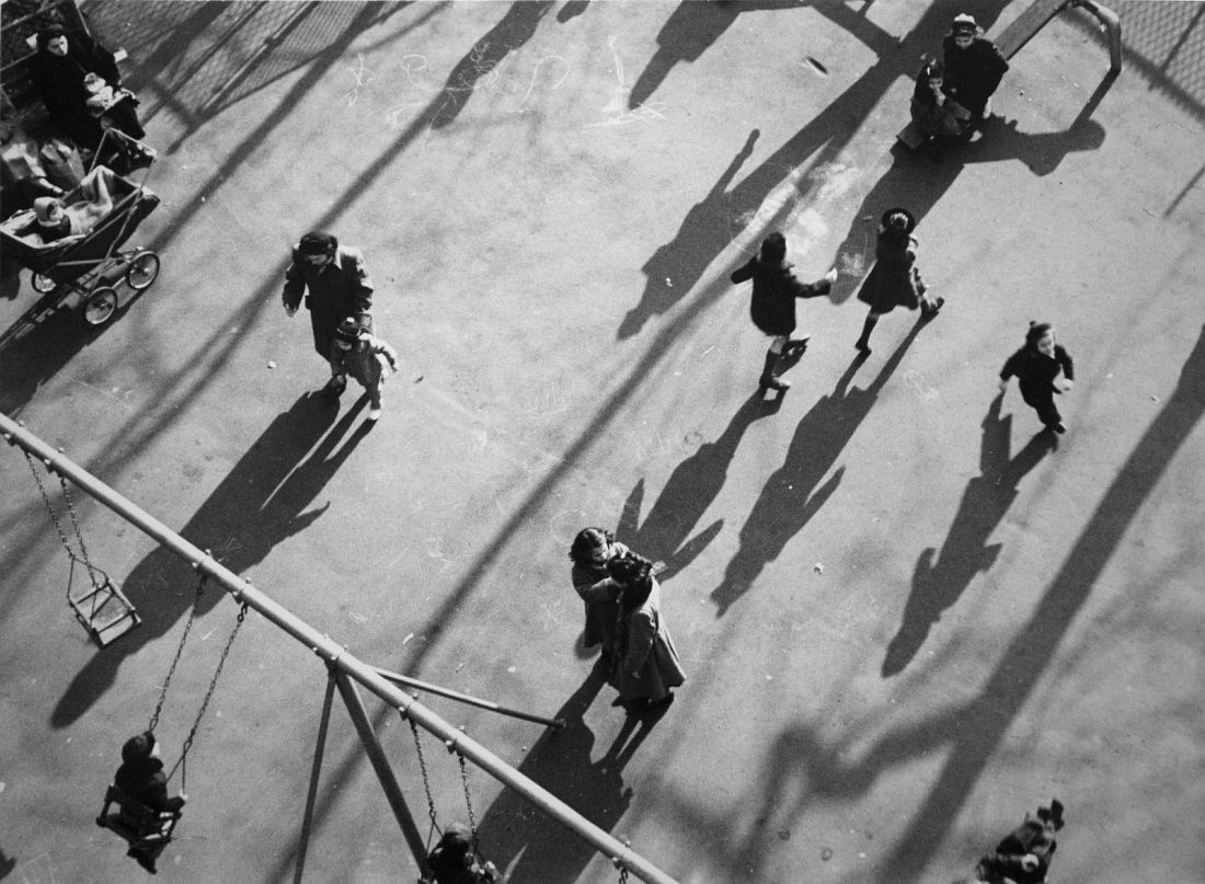 Children and Shadows in Park, 1951. Photo: André Kertész
