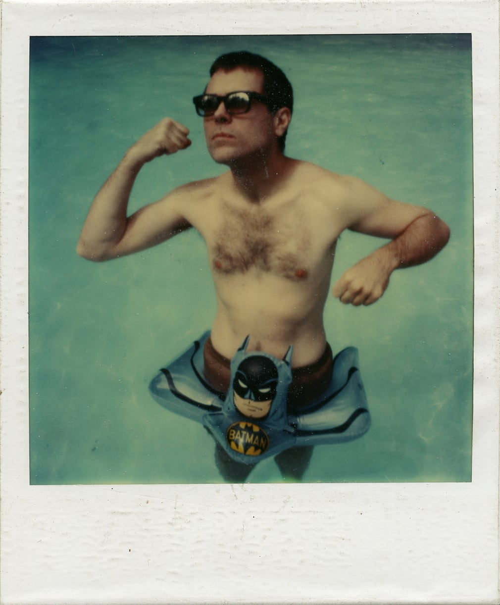 Glenn O'Brien, SX-70 Polaroid, Westchester, New York, 1980