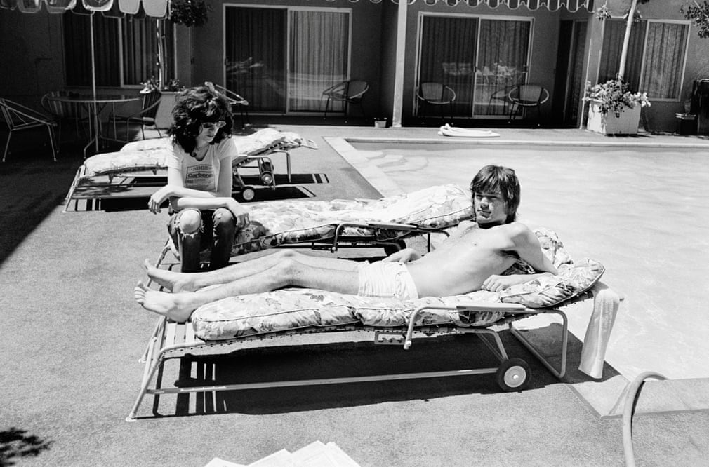 Joey and Dee Dee Ramone at the Sunset Marquis Hotel, West Hollywood, 1977 Photograph- Danny Fields