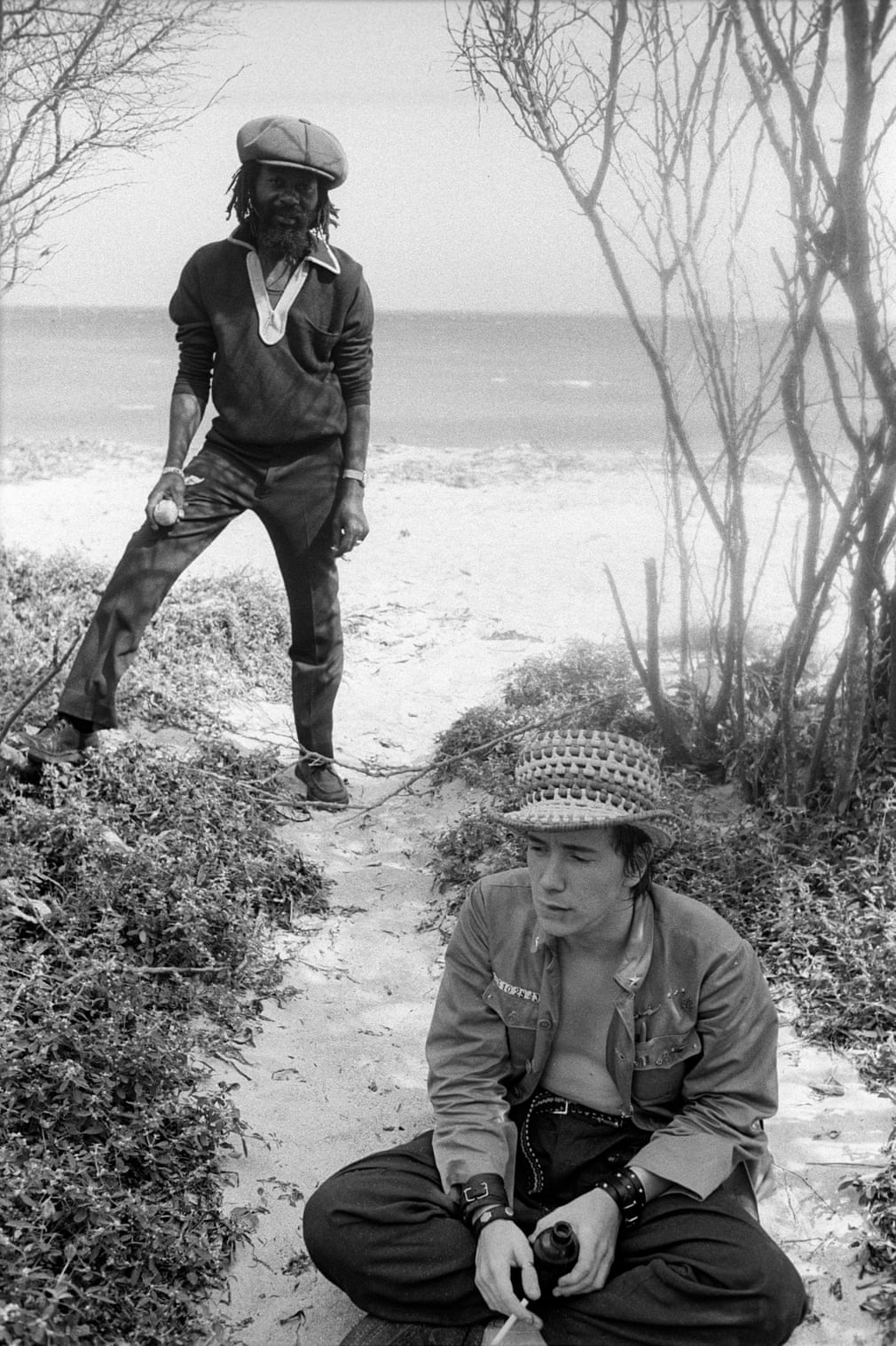 John Lydon and U-Roy, Hellshire Beach, Jamaica, 1978 Photograph- Kate Simon