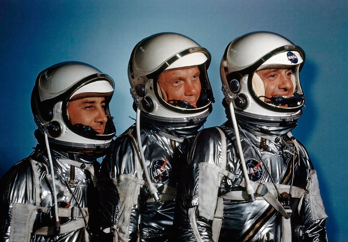 Alan Shepard, John Glenn and Virgil I. Grissom - May, 1961