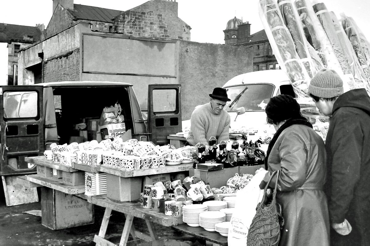 The Barras market Glasgow Scotland 1975