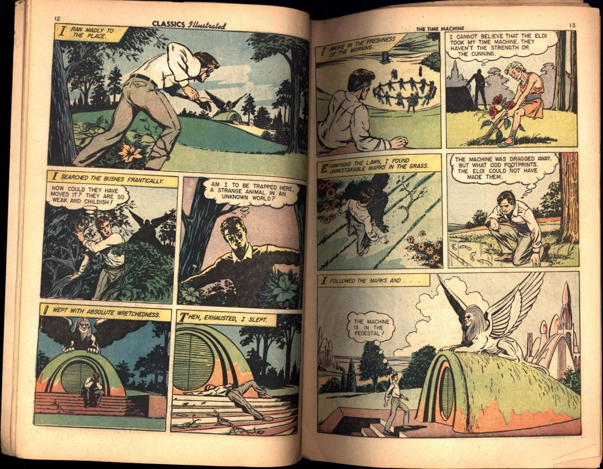 Classics Illustrated / The Time Machine / No. 133 (COMIC BOOK) Wells, H.G. Published by The Gilberton Co., Inc., 1956