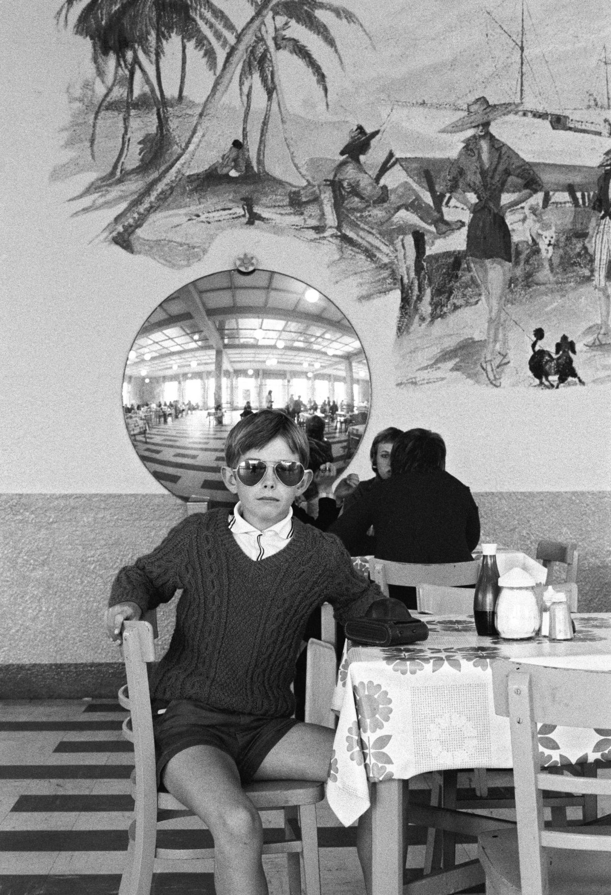 """Butlin's Boy"", from exhibition with Martin Parr: ""Butlin's by the Sea, ""Impressions Gallery, York, November 1972."