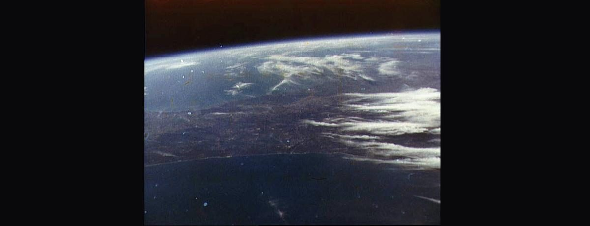 Photo of Earth taken by John Glenn - February 20, 1962.