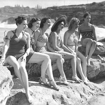 "The Women of ""The Women"" Relax on Sydney's Tamarama Beach in 1939"
