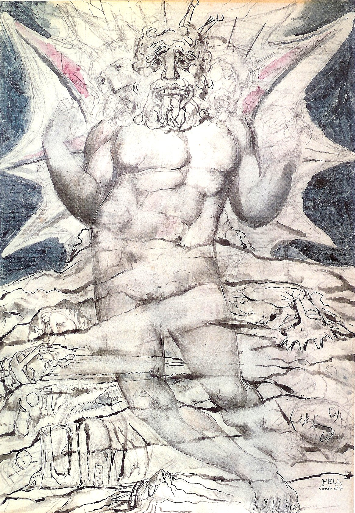 William Blake illustrations drawings for Dante Divine Comedy