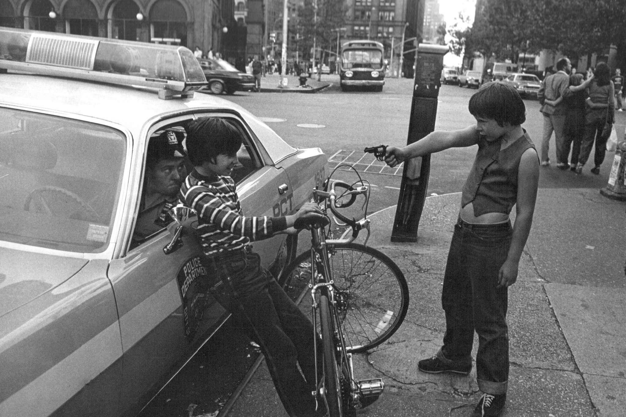 "Jill Freeedman ""Gun Play, Street Cops,"" 1979"