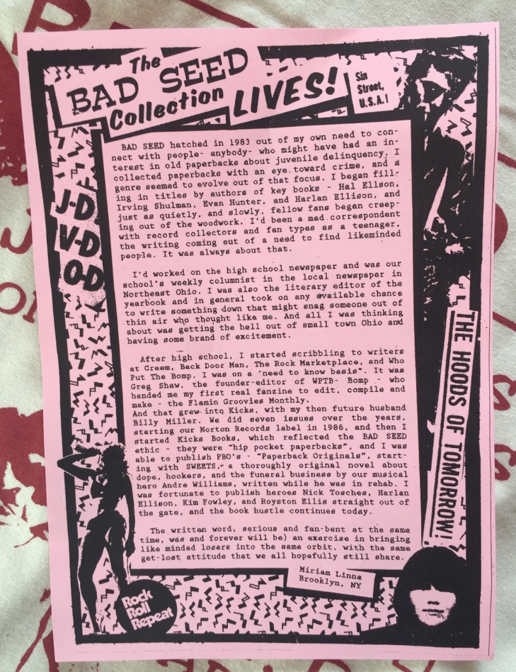 Bad seeds posts t-shirts