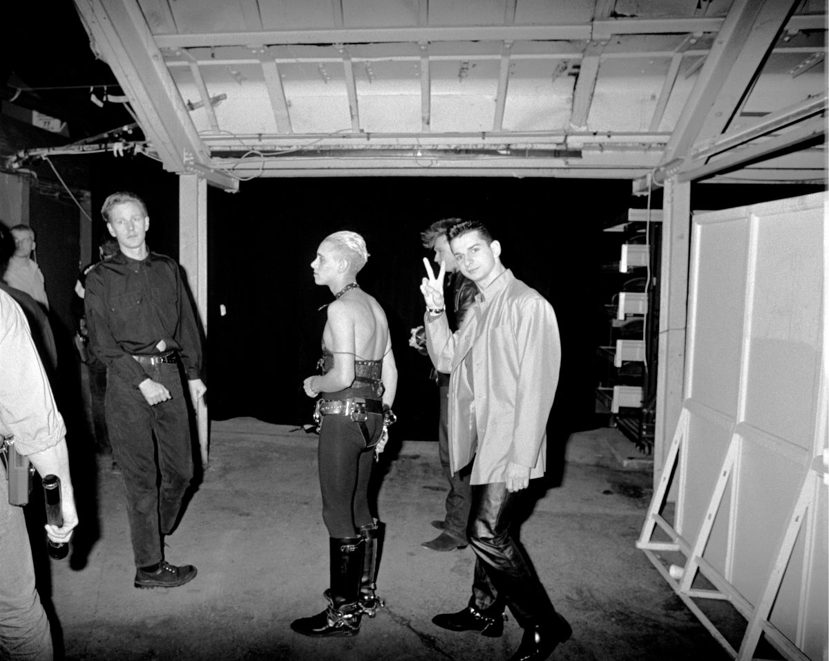 Photo by Andre Csillag - Martin Gore, Andrew Fletcher, Alan Wilder and Dave Gahan Depeche Mode, Black Celebration Tour, Wembley, UK - April 1986
