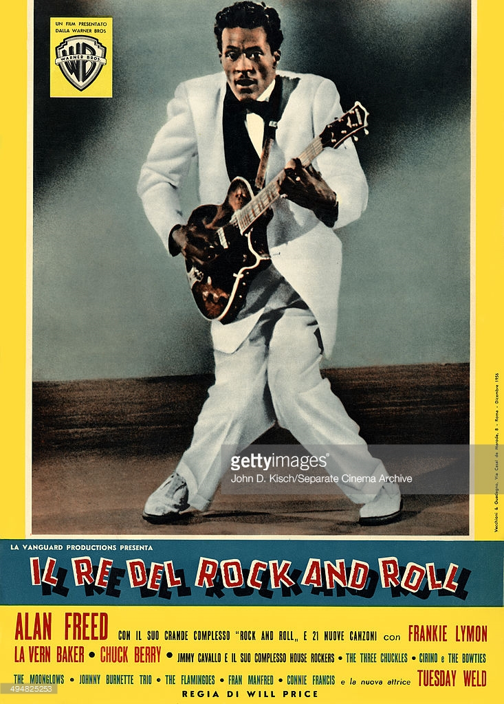 Movie poster for the Italian release of Alan Freed's musical Rock, Rock, Rock, 1956. Photo: John D. Kisch/Separate Cinema Archive.
